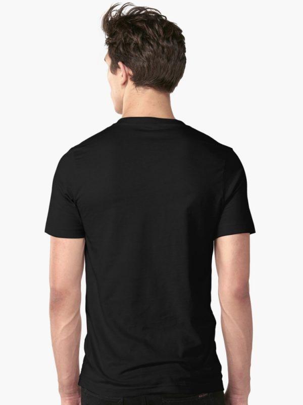 Black T-Shirt Men Backside