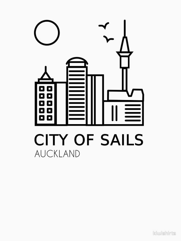 Auckland City of Sails Design Black