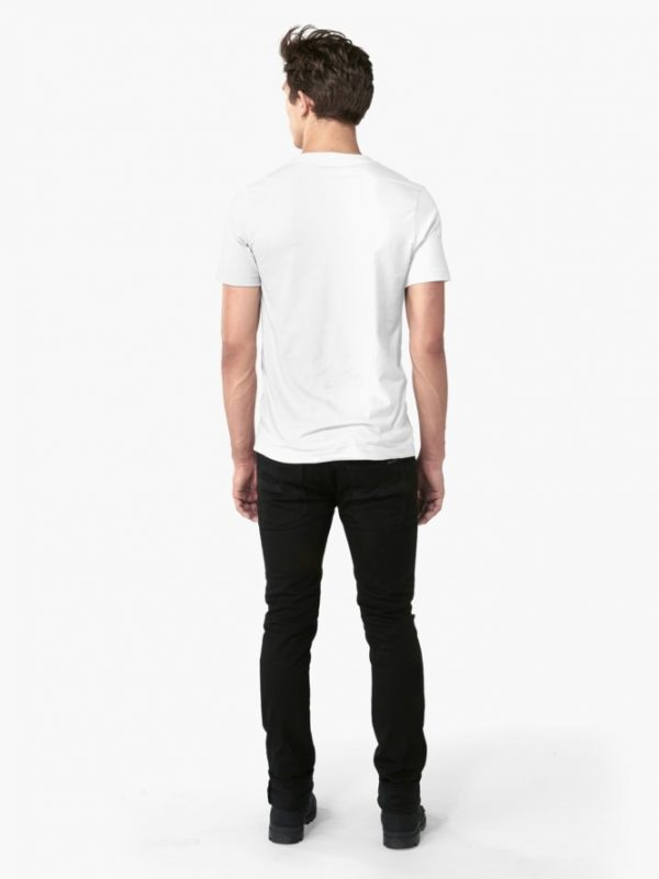 White T-Shirt Back