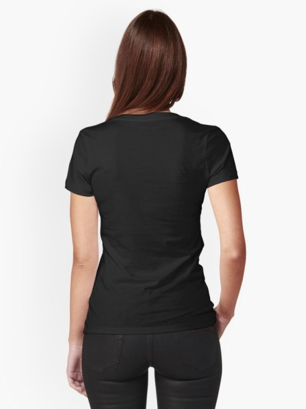 Black T-Shirt Women Back