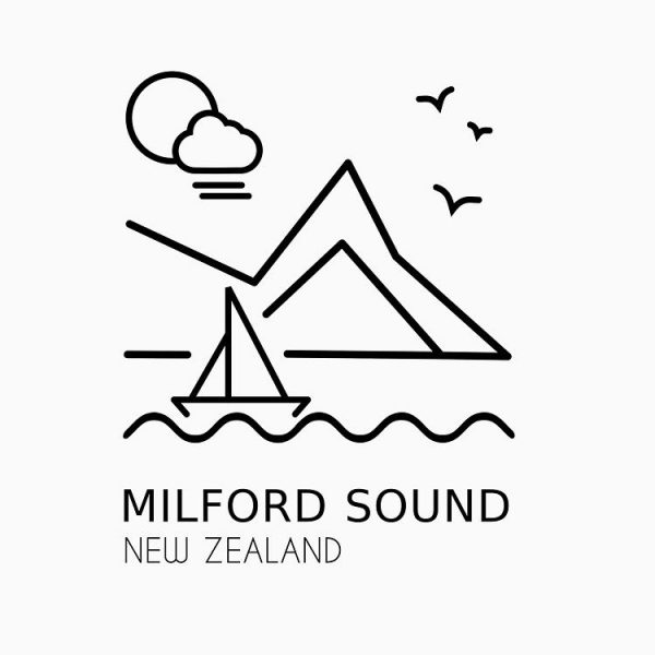 Milford Sound T-Shirt Design