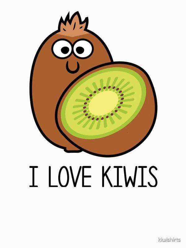 I Love Kiwis T-Shirt Design