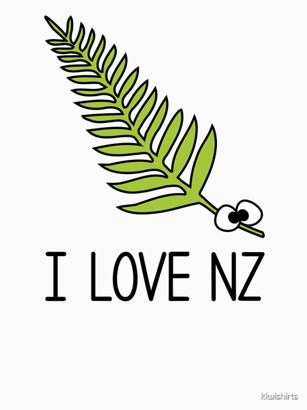 I Love NZ Fern T-Shirt