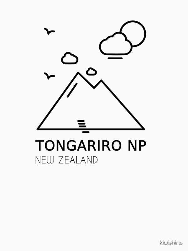Tongariro Crossing TShirt Design