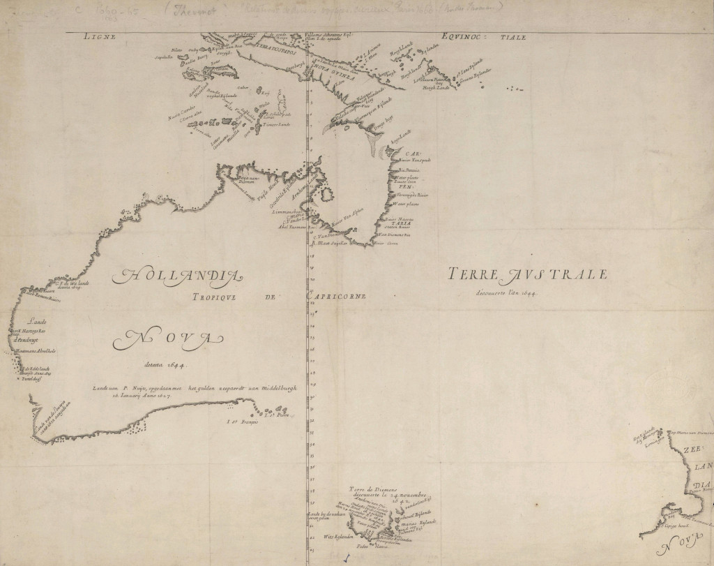 Abel Tasman Map of Terra Australe
