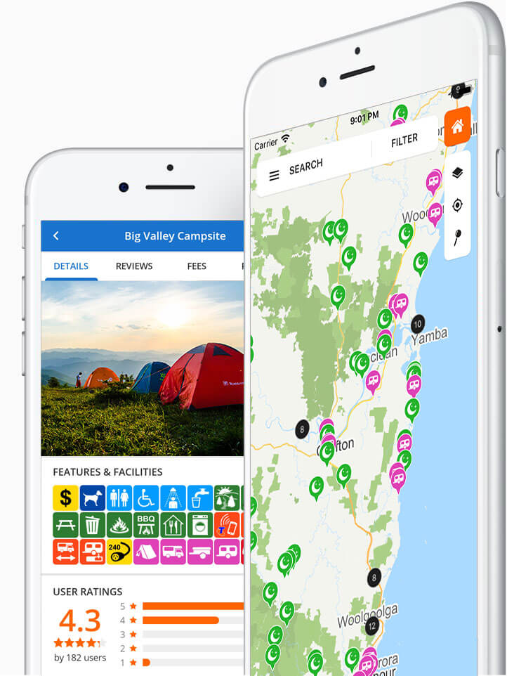 Wiki Camps New Zealand app