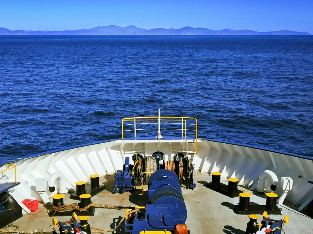 Cook Strait to south island